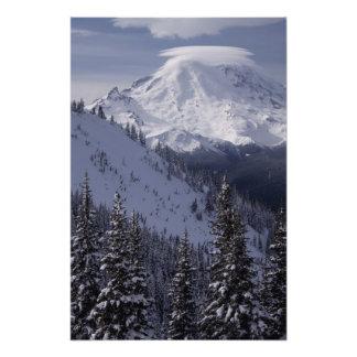 United States, Washington, view of Mt. Rainier Photo Print