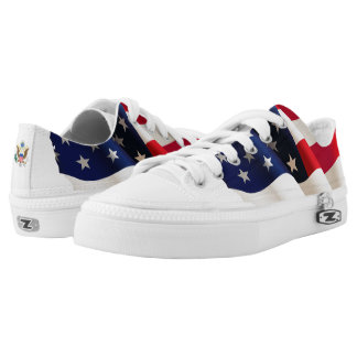 United States waving flag Low-Top Sneakers