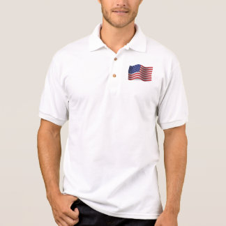 United States Waving Flag Polo Shirt