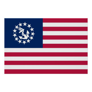United States Yacht Flag Print