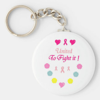 United to Fight Breast Cancer Basic Round Button Keychain