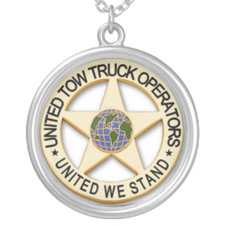 UNITED TOW TRUCK OPERATORS SILVER PLATED NECKLACE
