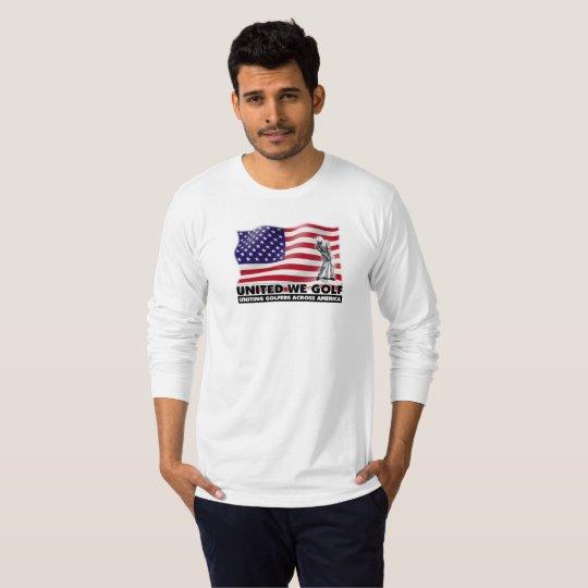 UNITED WE GOLF™ Patriotic Long Sleeve Tee Shirt