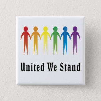 United We Stand 2 Inch Square Button