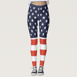 United We Stand American Flag Leggings