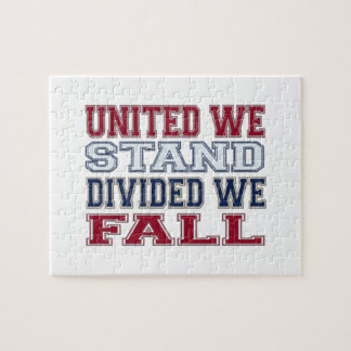 United We Stand, Divided We Fall T-Shirts and Gift Jigsaw Puzzle
