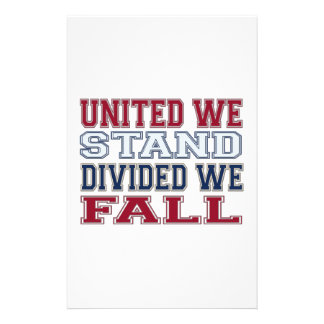 United We Stand, Divided We Fall T-Shirts and Gift Stationery