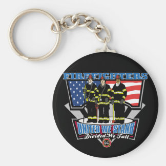 United We Stand Firefighters Keychain