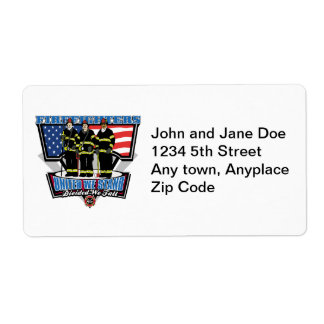 United We Stand Firefighters Shipping Label
