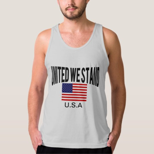 United we stand Patriotic Tank Top