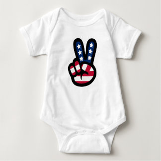 UNITED WE STAND: Peace Sign Baby Bodysuit