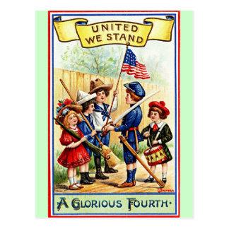 united we stand postcard