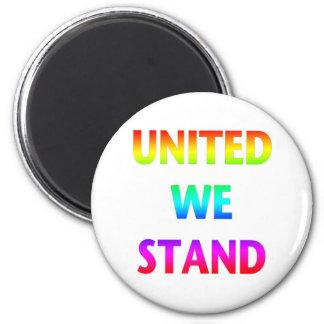 United We Stand Rainbow 2 Inch Round Magnet