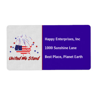 United We Stand Shipping Label