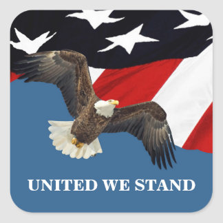 United We Stand Square Sticker