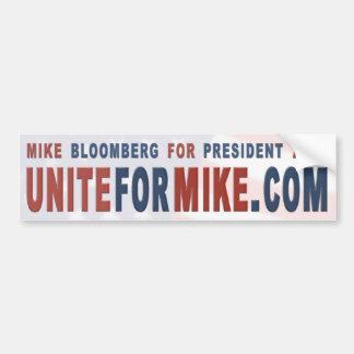 UniteForMike.com Bumpersticker Bumper Sticker