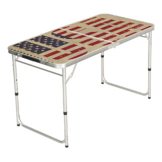 Unites States flag Beer Pong Table