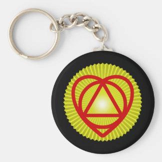 unitheist logo sunburst keychain
