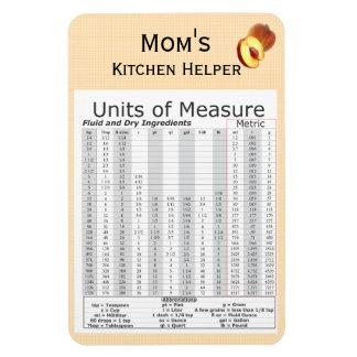 Units of Measure Peach Design Rectangular Photo Magnet
