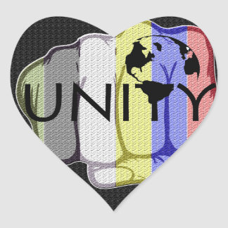 Unity 101 heart sticker