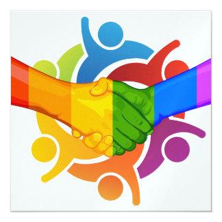 Unity 2 Rainbow Hands Invitation