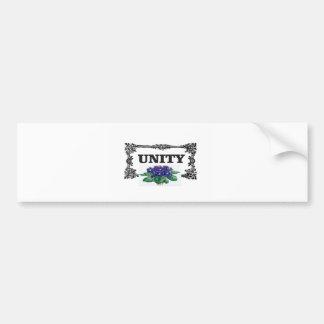 unity blue in frame bumper sticker