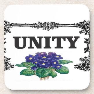 unity blue in frame drink coaster