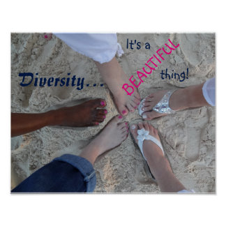 Unity! Ethnic Diversity Rum Point Cayman Islands Poster
