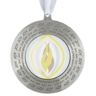Unity - Flame Joy Round Ornament Round Pewter Ornament