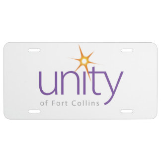 Unity of Fort Collins License Plate