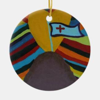 Unity Round Ceramic Ornament