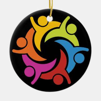 Unity - Teamwork - SRF Round Ceramic Ornament