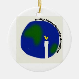Unity Through Understanding Round Ceramic Ornament