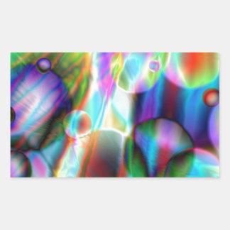 Univers d'imaginaire de Colorl, systèmes planétair Sticker Rectangulaire