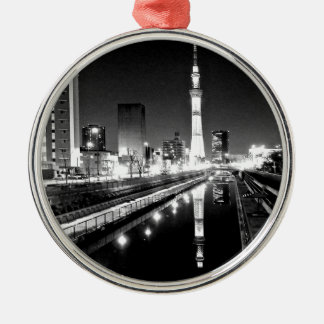 universal art line newyork paris london rome Silver-Colored round ornament