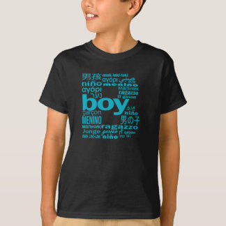 Universal Boy In Many Language Initial Kid T-Shirt
