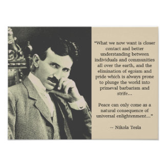 Universal Enlightenment - Tesla Poster