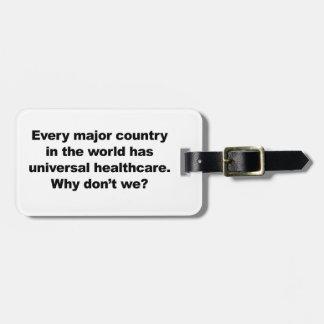 Universal Healthcare Bag Tag