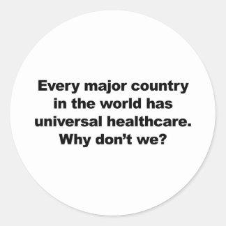 Universal Healthcare Classic Round Sticker