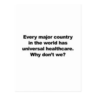 Universal Healthcare Postcard