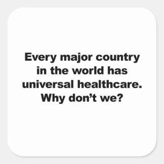 Universal Healthcare Square Sticker