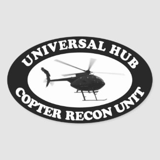 Universal Hub Copter Recon unit Euro-style sticker