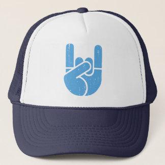 Universal Rock Hand -blue Trucker Hat