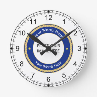 Universal Shield Wall Clock