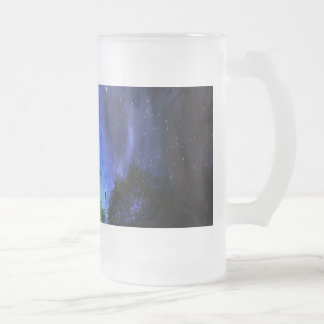 Universal Tree of Life Frosted Glass Beer Mug