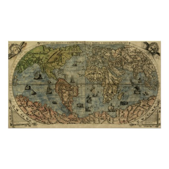 Universale Descrittione Map Poster