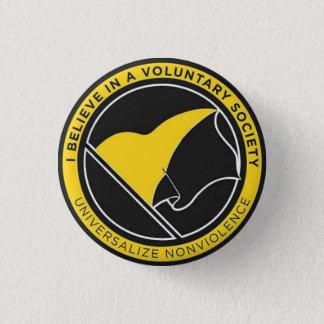 Universalize non-violence badge 1 inch round button