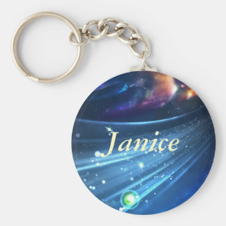 Universe Abstract Basic Round Button Keychain