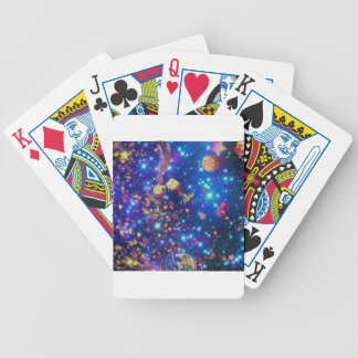 Universe and planets celebrate life with a tost.pn bicycle playing cards