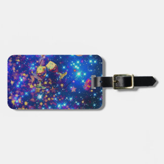 Universe and planets celebrate life with a tost.pn luggage tag